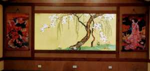 Wall glass paintings