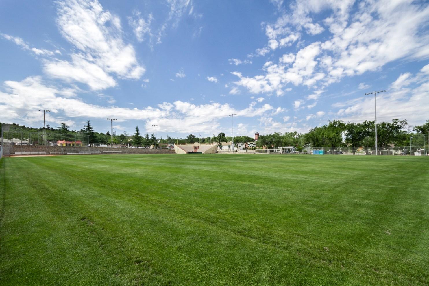 visit prescott, prescott parks, ball field in prescott, public park