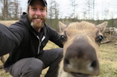 Selfie avec un renne