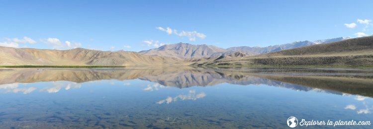 Effet miroir sur le lac Bulukul