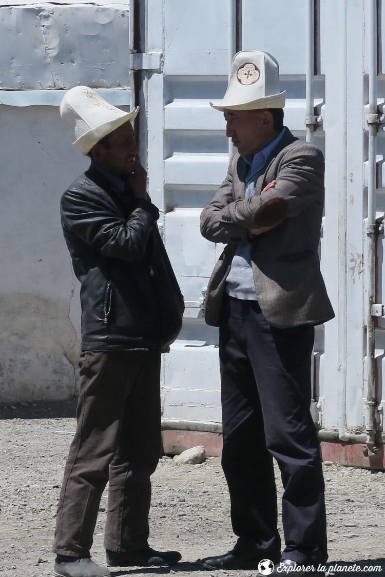Kirghize avec Kalpak à Murghab au Tadjikistan