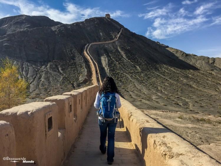 Muraille de Chine au Gansu destinations en dehors des sentiers battus