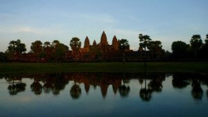Reflection of Angkor Wat angkor archaeological park Siem Reap Cambodia 2017