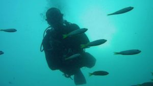 Scuba diving by Adventure girl in Thailand