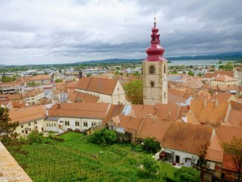Ptuj Slovenia Skyline towers