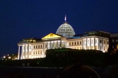 Presidential Palace Tbilisi Georgia night view