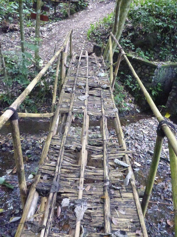 Old hand made bridge in Bali Indonesia