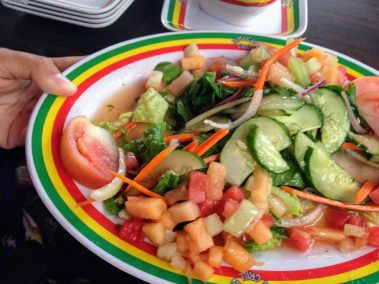 Salad Plate with tomatoes