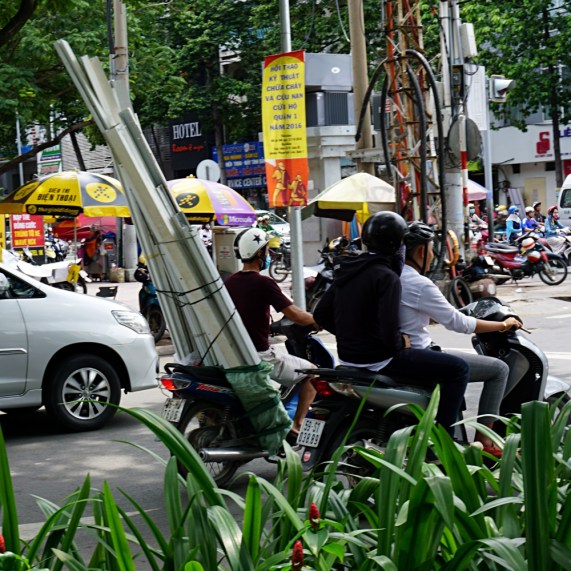 Fully packed moto in Saigon, Ho Chi Minh City, Vietnam, Asia