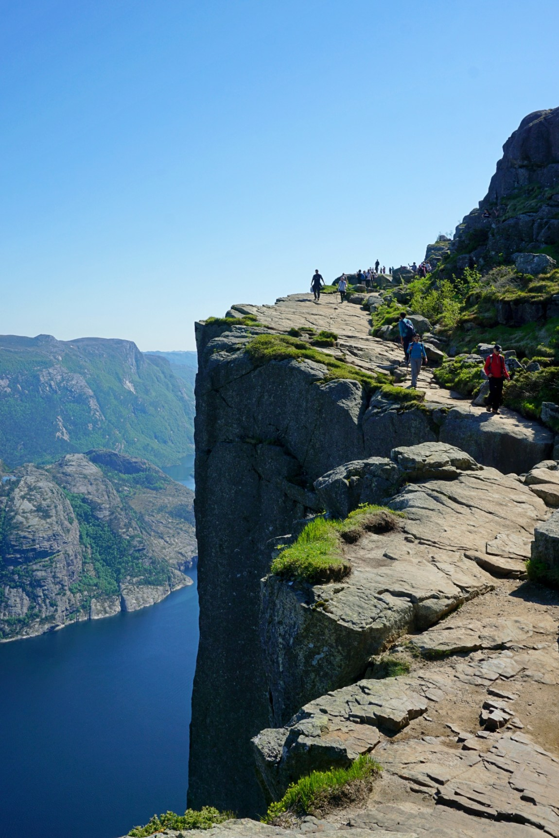 The hike to Preikestolen (Pulpit Rock) in Norway