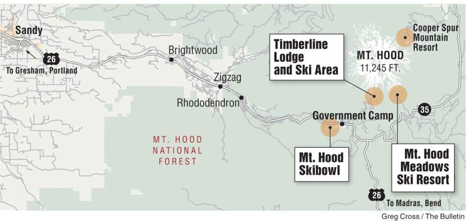 Map of Mt. Hood