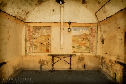 Art at War Paintings in a room 30 m deep under the ground