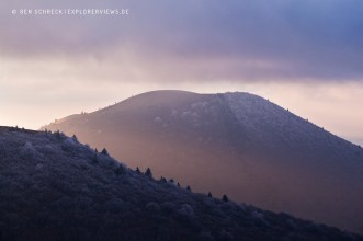 Puy de Dome Glow in Winter