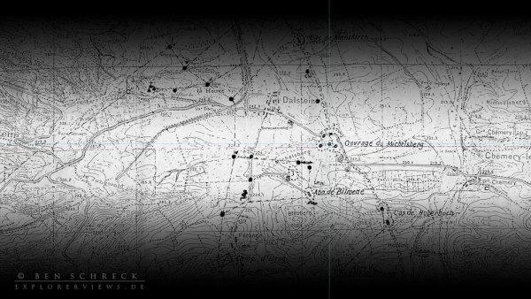 Maginot Linie nach dem Waffenstillstand karte