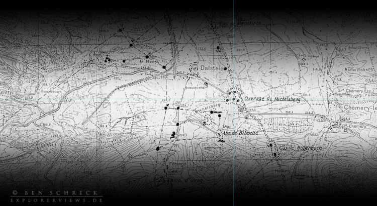 maginot linie michelsberg-karte