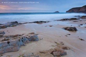 Bretonischer Strand Sonnenuntergang