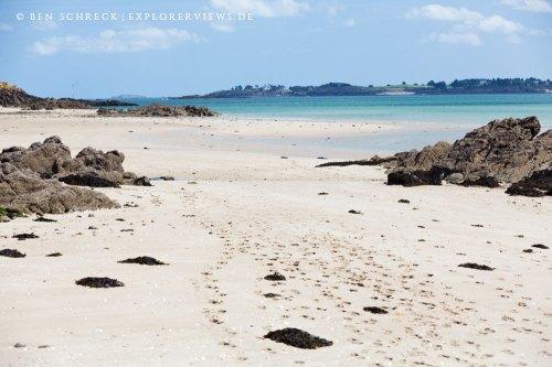 Sandstrand Hebihens Bretagne