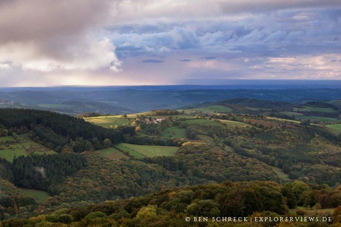 Auvergne Wald Ausblick