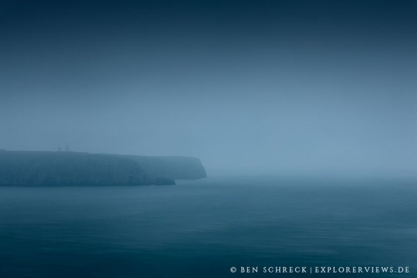 Cap Frehel im Herbst Nebel
