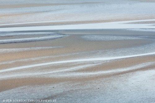 Bretagne Sand Strukturen