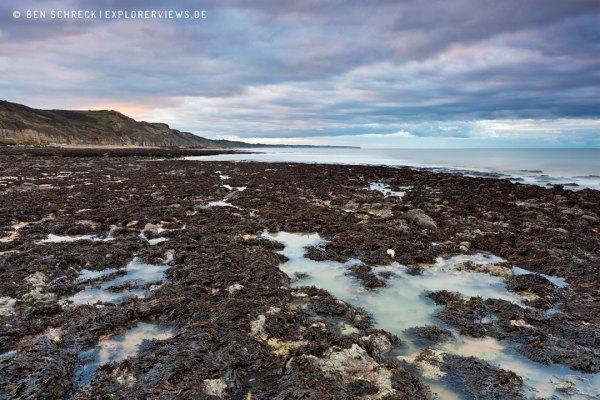 Küste Normandie Abends bei Ebbe