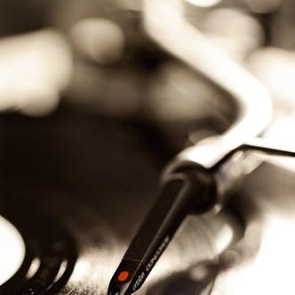 Plattenspieler mit Vinyl