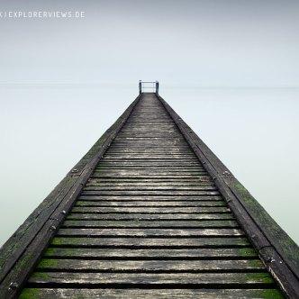 Steg ins Meer Frankreich Küste 0186