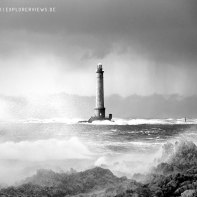 Lighthouse in Storm Normandy 1042