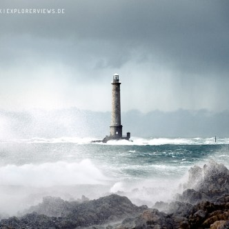 Lighthouse in Storm Normandy