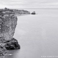 Pointe du Hoc Black and White 9036