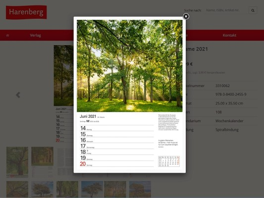 Wochenkalender Bäume 2021