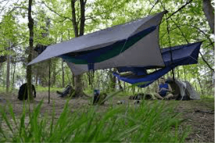 group hammock camping