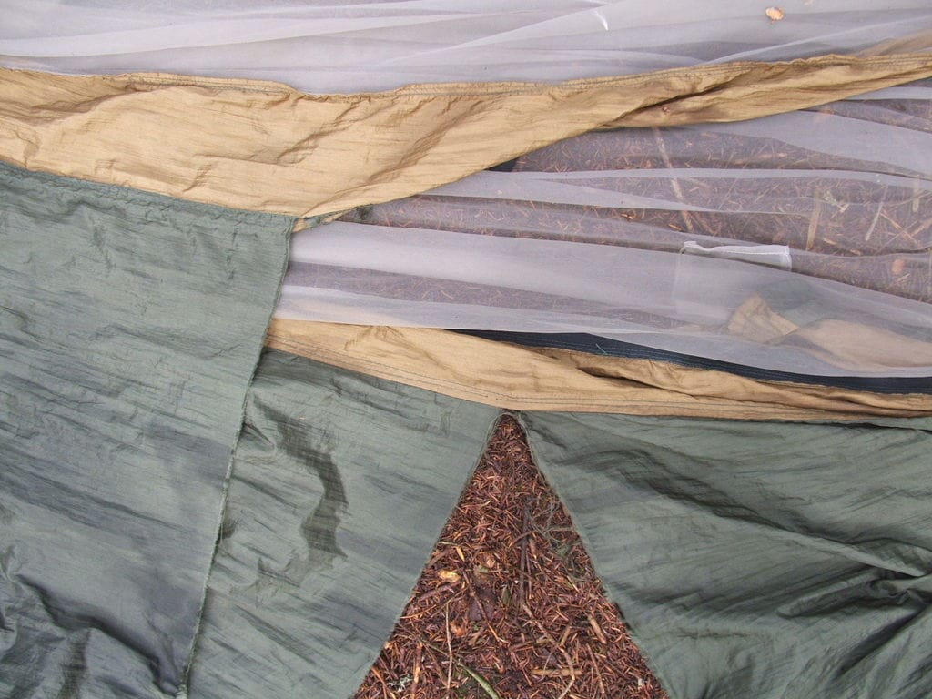 ripped nylon hammock