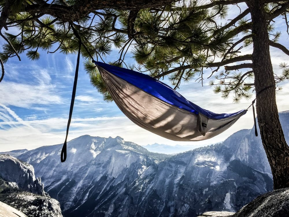 hammock on north dome, yosemite national park