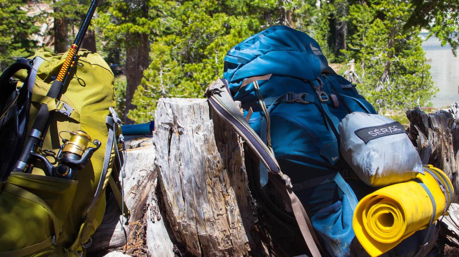 backpack and backpacking hammock