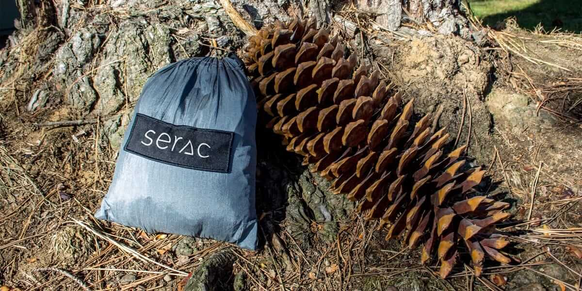 serac classic camping hammock attached stuff sack