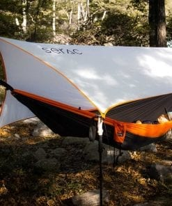 serac sequoia xl double camping hammock dusk orange grey