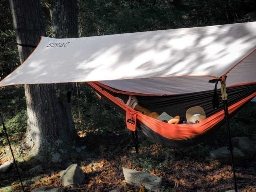 serac sequoia double camping hammock with tarp rain fly