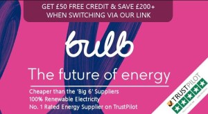 Bulb referral link and £50 credit