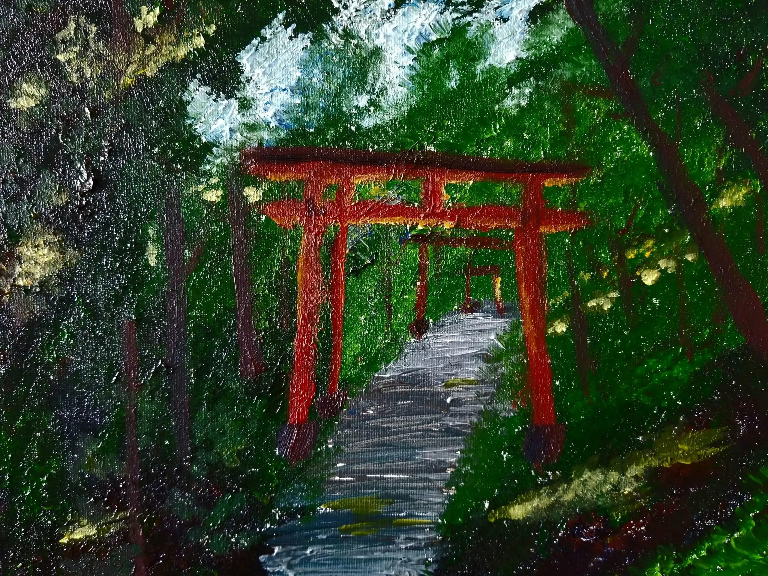 painting of Tori Gates