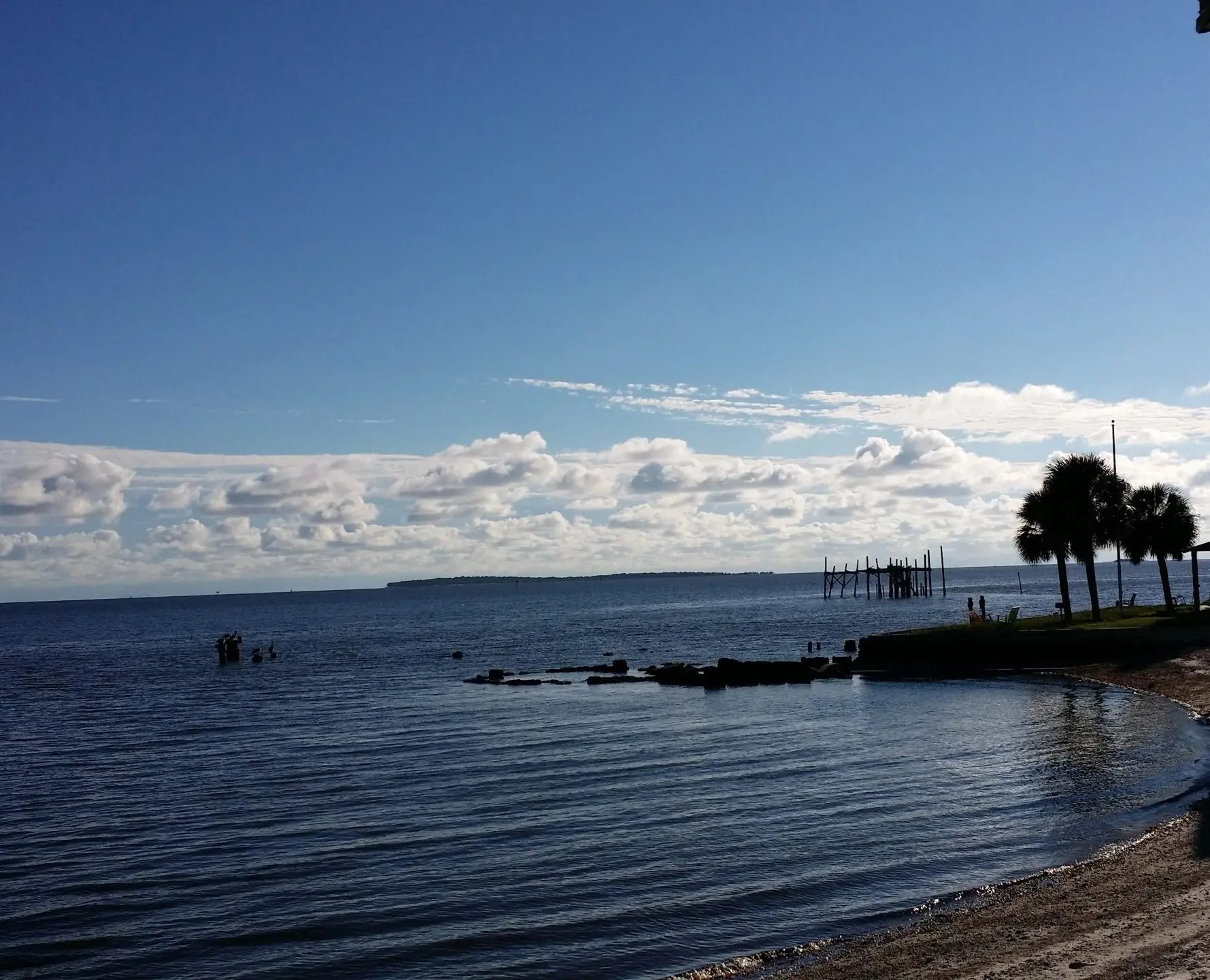 view of The Gulf of Mexico from Cedar Key