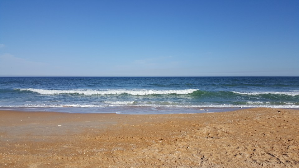 sand and surf at Flagler Beach