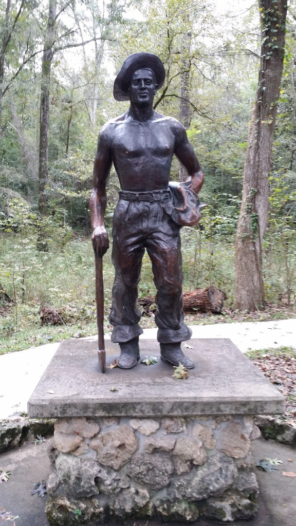 Statue of a CCC worker at Florida Caverns State Park