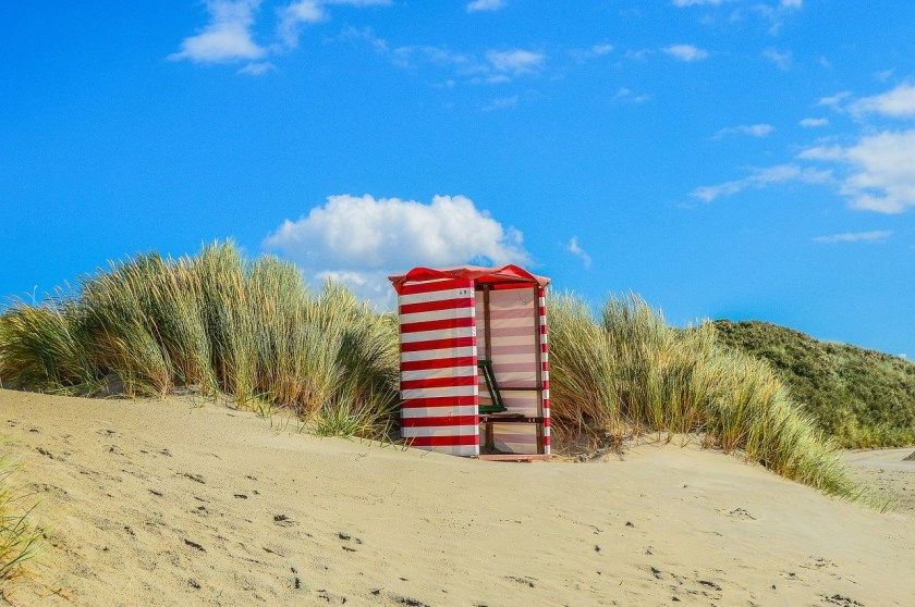 beach tent on Borkum, part of an ideal family vacation in Germany