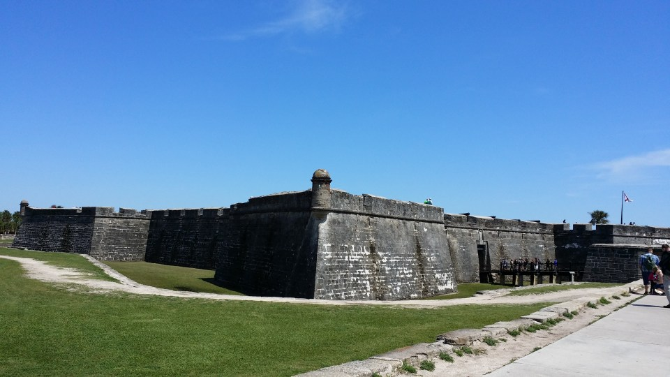 Castillo de San Marcos in the oldest city in the USA