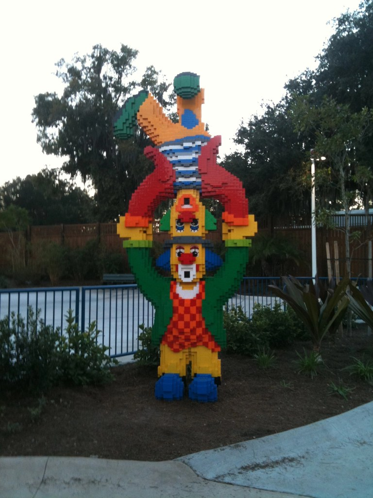 fun Lego circus clowns at Legoland FL