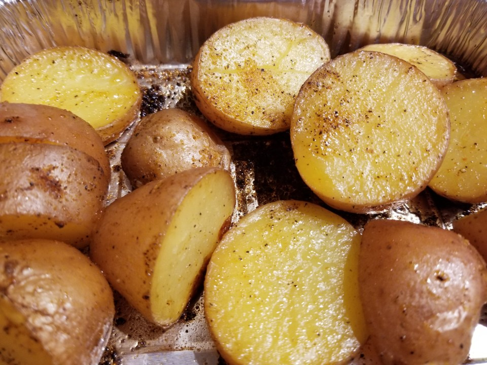 Grilled BBQ potatoes