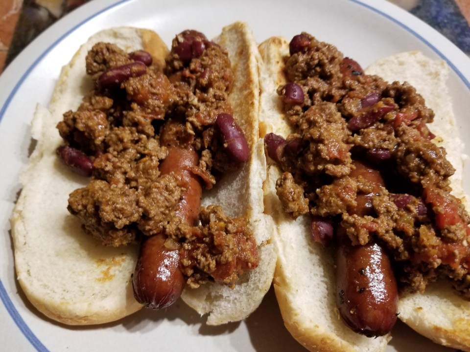 hot dogs with coney island chili