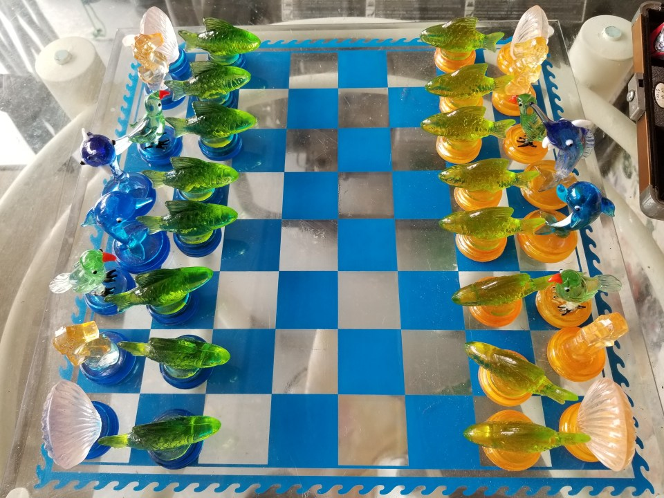 chess board to entertain guests