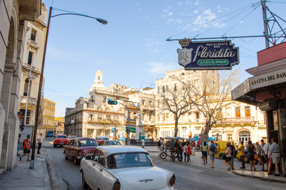 The sign for El Floridita, one of the pubs and bars in Havana
